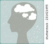 head with clouds. | Shutterstock .eps vector #231421495