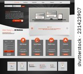 modern website template design...