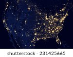 city lights of usa elements of... | Shutterstock . vector #231425665