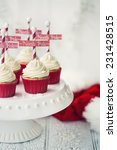 north pole cupcakes on a... | Shutterstock . vector #231428515