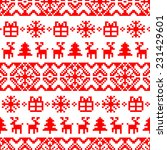 Vector Knitted Christmas...