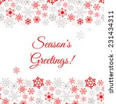 Greetings Card With Snowflakes...
