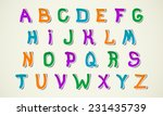 font kids abstract alphabet | Shutterstock .eps vector #231435739
