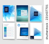 vector brochure design... | Shutterstock .eps vector #231437701