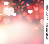 shining heart bokeh background. ... | Shutterstock .eps vector #231442009