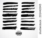 set of vector grunge brushes.... | Shutterstock .eps vector #231442045