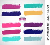 brush strokes   set   isolated... | Shutterstock .eps vector #231442705