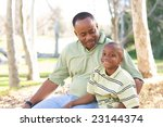 man and child having fun in the ... | Shutterstock . vector #23144374