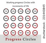 progress circles with... | Shutterstock .eps vector #231443845