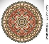 mandala. round ornament pattern....   Shutterstock .eps vector #231448999