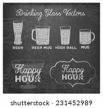 happy hour hand drawn design on ...   Shutterstock .eps vector #231452989