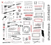 set of different graphic... | Shutterstock .eps vector #231456019