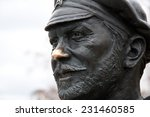 sculpture of russian soldier in ... | Shutterstock . vector #231460585