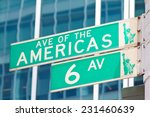 street name sign of 6th avenue  ... | Shutterstock . vector #231460639