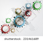 abstract vector background.... | Shutterstock .eps vector #231461689