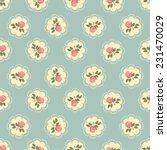 classic wallpaper seamless rose ... | Shutterstock .eps vector #231470029