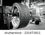 wheel balancing close up | Shutterstock . vector #231471811