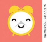 """""""happy alarm clock"""" vector...   Shutterstock .eps vector #231477175"""