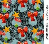 christmas vector pattern | Shutterstock .eps vector #231480151
