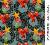 christmas vector pattern   Shutterstock .eps vector #231480157