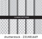 10 different classic wave... | Shutterstock .eps vector #231481669