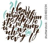 alphabet letters  lowercase.... | Shutterstock .eps vector #231483154
