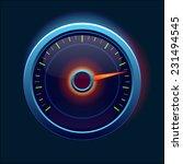car speedometer and dashboard    Shutterstock .eps vector #231494545