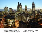 City Of London Skyline At...