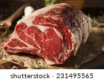 raw grass fed prime rib meat... | Shutterstock . vector #231495565
