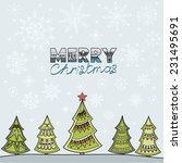 christmas illustration with fir ... | Shutterstock . vector #231495691