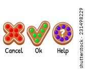 three funny buttons decorated... | Shutterstock .eps vector #231498229