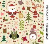 stylish merry christmas... | Shutterstock .eps vector #231499261