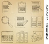 sketch icon set. paper | Shutterstock .eps vector #231499849