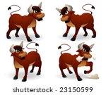 bulls   vector | Shutterstock .eps vector #23150599