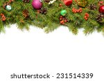 christmas background with balls ... | Shutterstock . vector #231514339