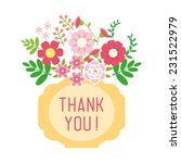 thank you card with lovely... | Shutterstock .eps vector #231522979