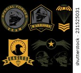 special unit military emblem... | Shutterstock .eps vector #231525031