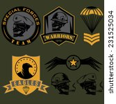 special unit military emblem... | Shutterstock .eps vector #231525034