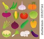 set of fresh vegetables | Shutterstock .eps vector #231527161
