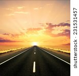 a road heading into the light | Shutterstock . vector #231531457