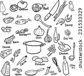 doodle set of components and...   Shutterstock .eps vector #231533329