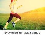 runner athlete running on grass ... | Shutterstock . vector #231535879