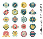 school badge banner design flat ... | Shutterstock .eps vector #231544411