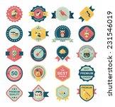 halloween badge banner design... | Shutterstock .eps vector #231546019
