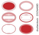 oval stamp set of red color for ... | Shutterstock . vector #231564085