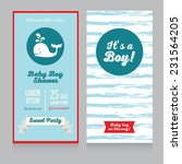 baby boy arrival cards template ... | Shutterstock .eps vector #231564205