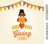happy thanksgiving day card ... | Shutterstock .eps vector #231568309