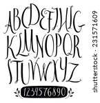 set of vector alphabet and... | Shutterstock .eps vector #231571609
