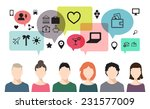 vector banner of speaking... | Shutterstock .eps vector #231577009