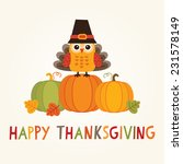 happy thanksgiving day card ... | Shutterstock .eps vector #231578149